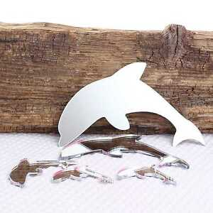 Large Dolphin Wall Mirror for Bedroom Bathroom Kitchen Living Room & Sticky Pads