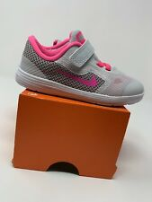 BABY GIRL: Nike Revolution 3 Shoes, Pink & Gray - Size 8C 819418-007