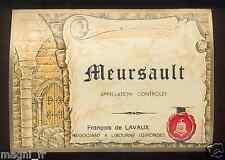 Etiquette de vin - Wine Label - MEURSAULT