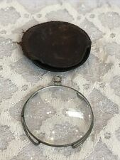 New listing Antique Monacle Eye Piece With Bezel And Original Leather Case