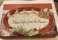 Fitz & Floyd Regal Holiday Shared Gifts From The Heart Platter New In Box 14x9�