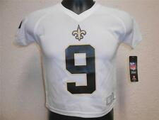 NEW-FLAWED DREW BREES #9 NEW ORLEANS SAINTS KIDS SIZE LARGE (7) JERSEY 50KG