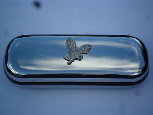 BARN OWL  bird  brand new chrome glasses case great gift!!! , Christmas