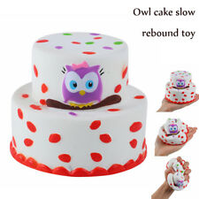 Cute Owl Cake Relax Super Slow Rising Cream Scented Relax  Toys Kids Gifts US