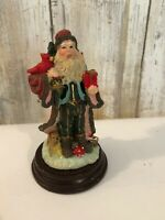 Old World Santa Claus Woodland Non-Traditional St. Nick Figurine w/Red Bird