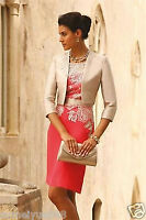 Mother of the Bride suit outfit  Wedding Mother Dress Jacket Free Tea Length