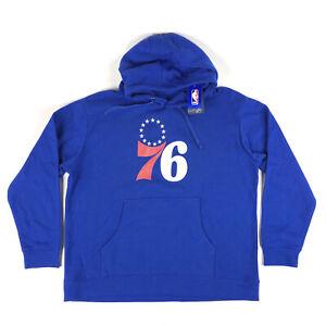 Philadelphia 76ers NBA Fanatics Mens 2XL Blue Pullover Hoodie Sweatshirt