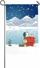 Buddie Dog And Charlie Snow Winter Holiday Home Outdoor Garden Flag Yard Banner