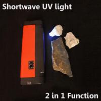 4 Watts Shortwave UV Lamp Fluorescent Minerals Detector Optical Filter Supplied
