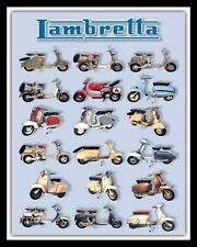 LAMBRETTA SCOOTER MODELS BRIGHTON QUADROPHENIA MODS METAL PLAQUE TIN SIGN N119