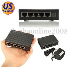 5 Port RJ45 10/100/1000Mbps Gigabit Ethernet Network LAN Switch Splitter LED Hub