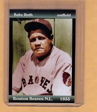 Babe Ruth's final season - '35 Boston Braves, near mint - mint condition