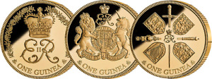 The 2018 Sapphire Coronation Jubilee Three East India Company Guinea® Gold Proof