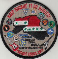 VFA-154 BLACK KNIGHTS COMBAT CRUISE 2017 KEEP ROCKIN' IT ON NIMITZ! PATCH
