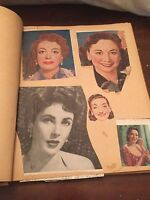 Vintage 1950's Movie Actress Actor Scrapbook