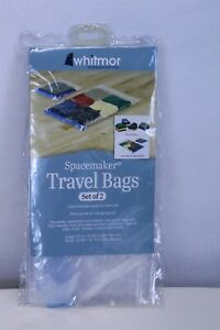 Set of 2 Space Maker Travel Bags Clear 1 Large and 1 Small