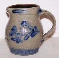 LOVELY 1992 ROWE POTTERY WORKS CAMBRIDGE WIS SALT GLAZED POTTERY FLOWER CREAMER
