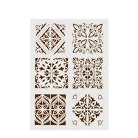 Schichtung Schablonen für Wände malen Scrapbooking G0A6 Vorlage H DIY D7F4 P2L0