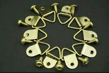 20 Picture framing supplies, Brassed triangle hooks hangers, with 20 screws