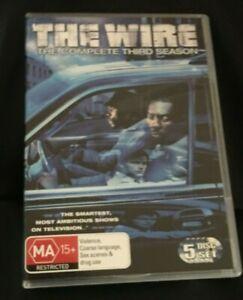The Wire : Season 3 (DVD, 2008, 5-Disc Set) Very Good Condition Region 4