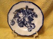 Vintage Flow Blue Rose Design Staffordshire Ironstone 10in Dinner Plate~England