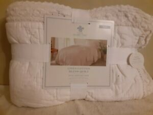 Simply Shabby Chic Twin Linen/Cotton Blend Quilt
