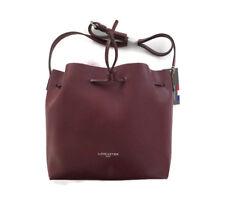 BNWT Lancaster Paris Womens Leather Bucket Handbag Bag Purse Bordeaux
