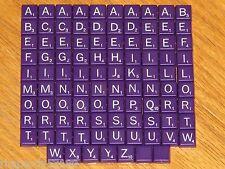 Travel Scrabble mini purple plastic letter tiles Game Parts jewelry art crafts