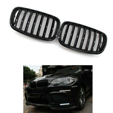 1 Set Gloss Black Front Bumper Kidney Grille For BMW E70 X5 E71 X6 07-13