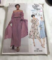 Very Easy Vogue American Designer Original Edith Head  # 1895 Dress  Size 8