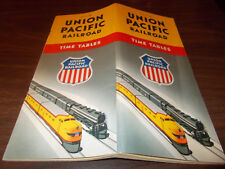 1952 Union Pacific Railroad Time Table / June 22, 1952