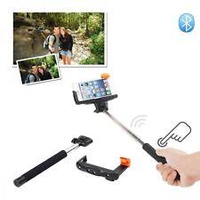 Black Extendable Wireless Bluetooth Monopod Selfie Stick For Huawei Smartphones