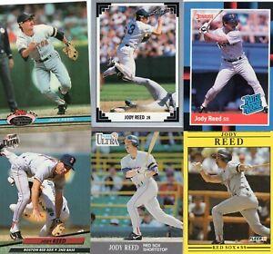 JODY REED Lot of 25 Different Premium MLB Baseball Cards Boston Red Sox  LQQK