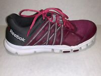 Reebok Yourflex Trainette Memory Cushion Shoes Purple/Gray Womens Size 8