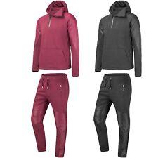 New Men Biker PU Track Suit Set Jogger Jackets Hooded Long Sleeve Sizes S-XL