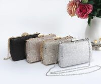 UK New Women's Glitter Shiny Clutch Bag/Prom/Wedding/Evening/Party