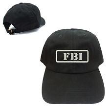 FBI UNSTRUCTURED 100% COTTON CAP HAT BUCKLE BACK CLOSURE