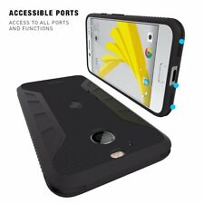 Poetic Carbon Fiber Texture Slim Fit Protective TPU Case For HTC Bolt Black New