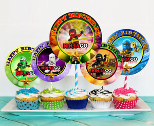 12 Ninjago Movie Inspired Birthday Party Picks, Cupcake Toppers #1