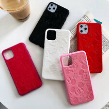 Mickey Mouse Disney Embossing Leather Soft Shockproof Phone Case For iPhone 11 X