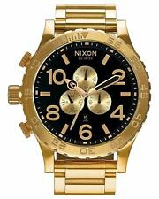 Authentic New Nixon 51-30 Chrono All Gold Black Watch A083-510 A083510