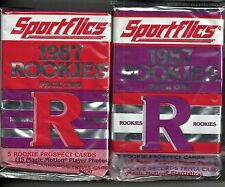 1987 Sportflics 2-Pack Rookie Packs Lot ( Pack #1 & #2)  Palmeiro  Santiago ++