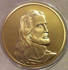 LOTTO 3-RELIGIONE, Gesù Placcato Oro Novità medallionthe Ultima Cena, UNC.