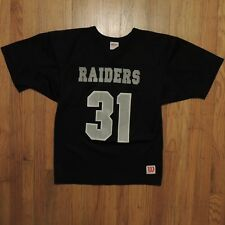 Oakland Raiders Vintage Wilson Athletics Jersey Youth Black Silver Size  Large c4df07d2d