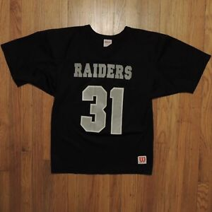 Oakland Raiders Vintage Wilson Athletics Jersey Youth Black Silver Size Large