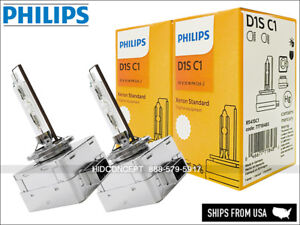 D1S Philips HID Standard OEM Headlight Bulb w/ COA label 4300K 85415C1 Pack of 2