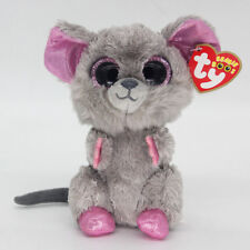 """6"""" Ty Beanie Boos Squeaker Mouse Med Stuffed Plush Toys Child Christmas Gift"""