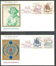 Vatican City Sc# 537-40: Nicolaus Copernicus on FDC