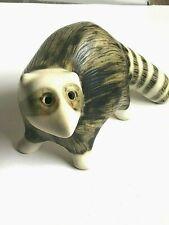 VTG Annelise Wade Canadian Ceramic Strawberry Hill Werkshop Raccoon Figure