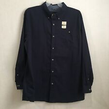 Lee Mens Shirt size 2XB button down long sleeve blue stretch MSRP $ 62 new